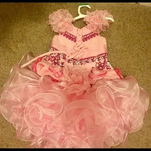 Dresses - Pink Bedazzled Pageant Dress
